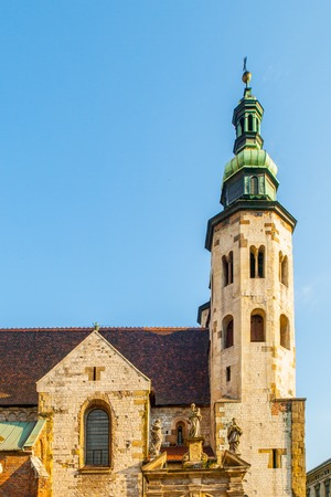 Romanesque church of St. Andrew in the Old Town district of Krakow, Poland.