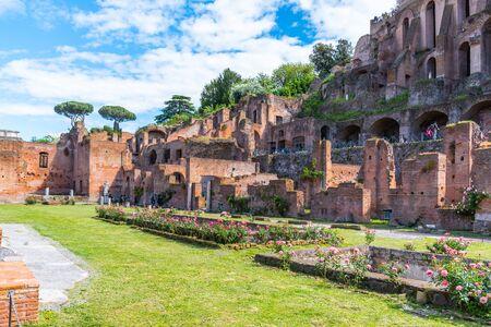 Maison des vierges vestales au Forum Romain, Rome, Italie.