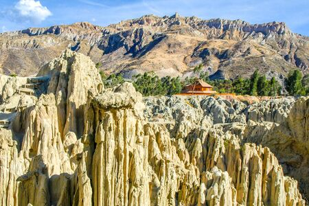 Rock formations in Moon valley near La Paz, Bolivia, South America.