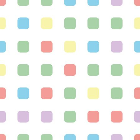 Seamless polka square pattern in different colors. Colorful theme. Sipmle flat vector wallpaper