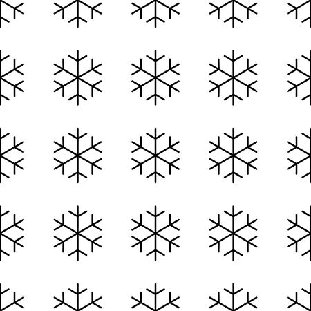 Seamless pattern of snowflakes. Christmas or winter theme vector background.