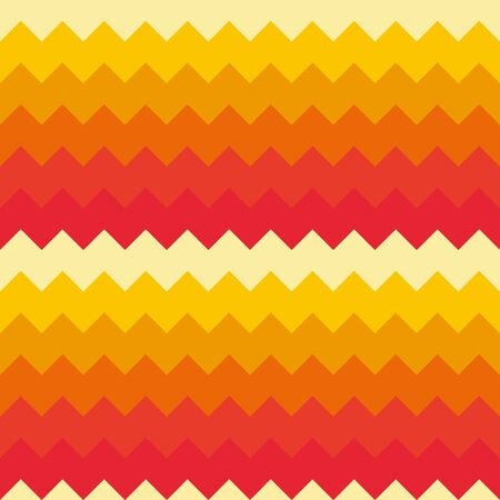 Abstract seamless background chevron pattern in shades of orange. Vector illustration.