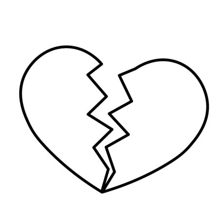 Broken heart icon. Simple flat vector illustration. Illustration