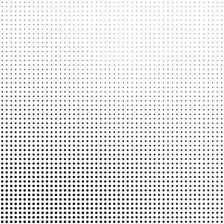 Abstract halftone background in black and white. Dotted vector pattern.