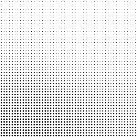 Fondo de semitono abstracto en blanco y negro. Patrón de vector punteado.