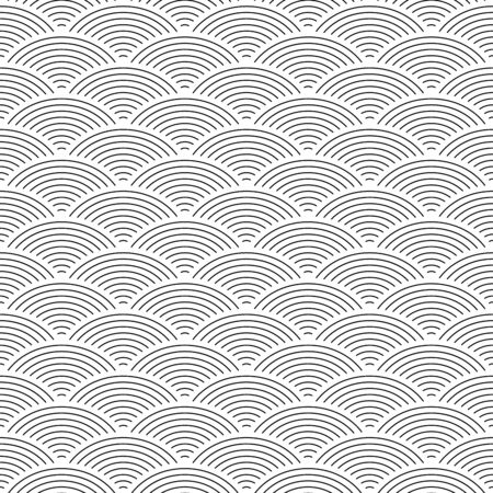 Fish scale seamless pattern background. Abstract design element. Black vector illustration.