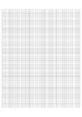 Millimeter grid on A4 size page. Divided by 1, 5 and 10 mm lines. Sheet of engineering graph paper. Vector illustration. Illustration