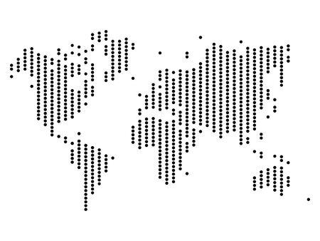 Dotted map of World. Halftone design. Simple flat vector illustration. Ilustracja