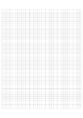 Millimeter grid on A4 size page. Divided by 5 and 10 mm lines. Sheet of engineering graph paper. Vector illustration.