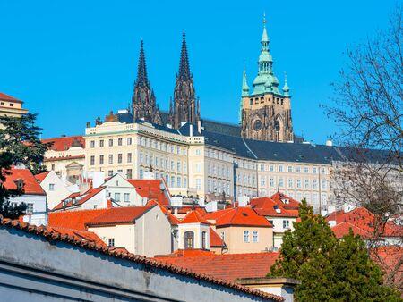 Prague Castle, Czech: Prazsky hrad, with St Vitus Cathedral, Hradcany, Prague Czech Republic