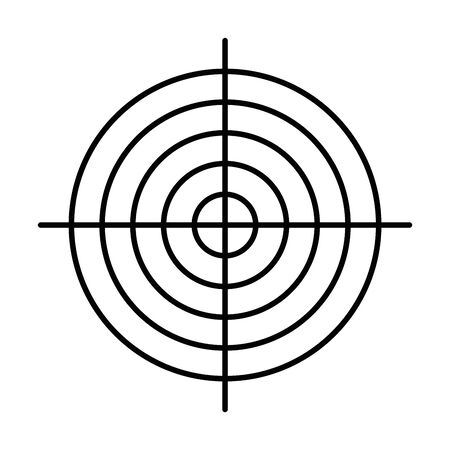 Black target. Hunting, shooting sport or achievement symbol. Simple vector icon. Vettoriali