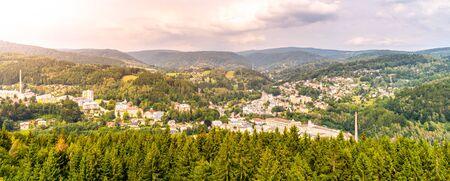Tanvald - small mountain town in Jizera Mountains, Czech Republic.