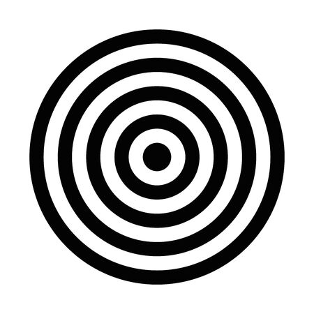Black target. Hunting, shooting sport or achievement symbol. Simple vector icon.
