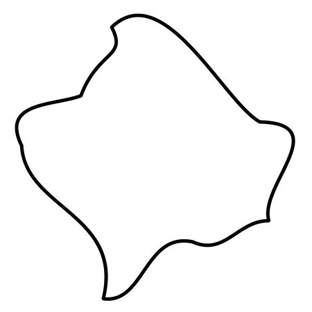 Kosovo - solid black outline border map of country area. Simple flat vector illustration.
