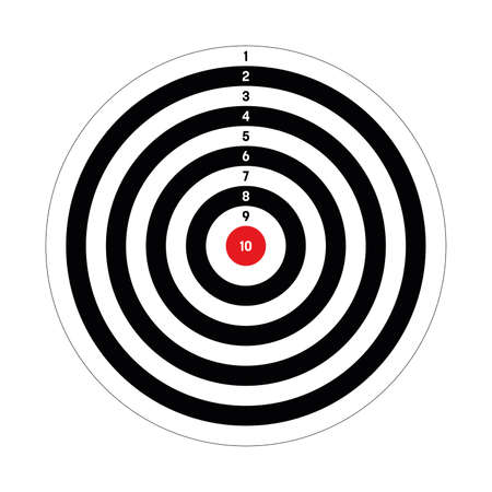 Black target with red point in the centre. Hunting, shooting sport or achievement symbol. Simple vector icon. Stock fotó - 153293387