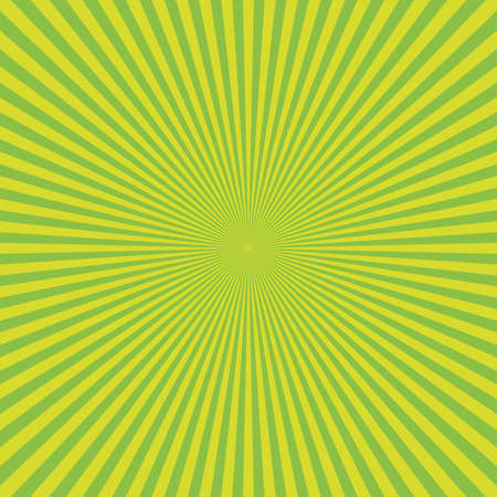 Abstract green sunburst backgound. Vector rays in radial arrangement.