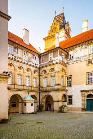 Historial Courtyard of Chateau Brandys nad Labem, Czech Republic