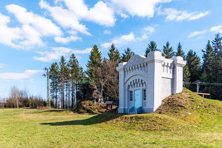 Reconstructed building of historical water reservoir in Dobra voda, Jablonec nad Nisou, Czech Republic Stock fotó