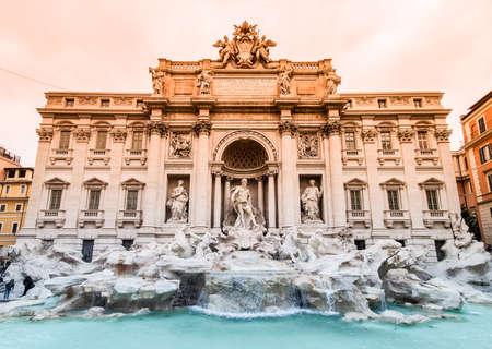 Trevi Fountain, Italian: Fontana di Trevi, in Rome - Italy 版權商用圖片