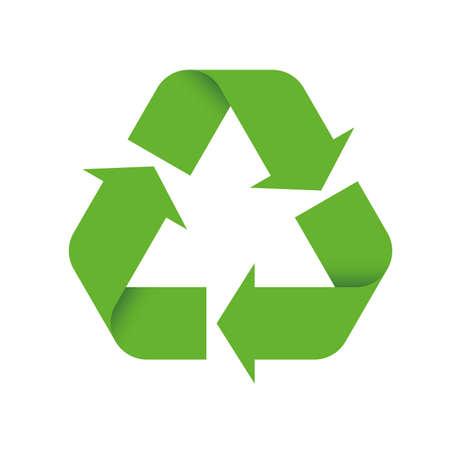 3D Green Universal Recycling Symbol Vecteurs