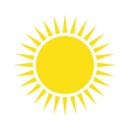 Yellow sun simple flat icon Foto de archivo - 167969577