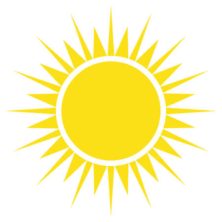 Yellow sun simple flat icon