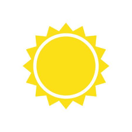 Yellow sun simple flat icon Foto de archivo - 167970353