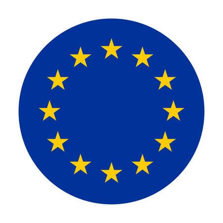 Circle flag of European Union Vektorové ilustrace