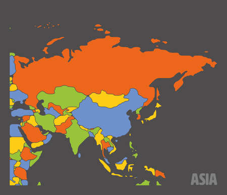Smooth map of Asia continent