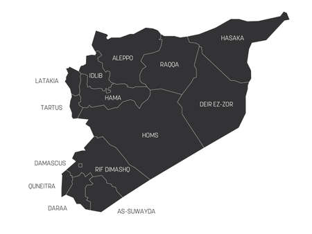 Syria - political map of governorates
