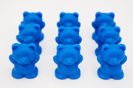 Plastic toy bears