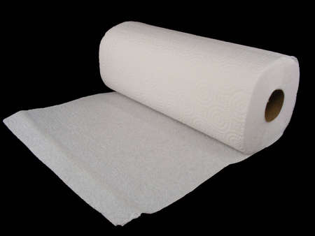 Paper towels against a black background.