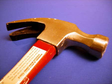 A shot of a claw hammer. 版權商用圖片