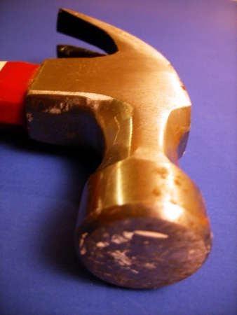 A shot of a claw hammer. Imagens