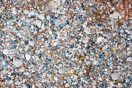 Crushed gravel consisting a various colors of stone.