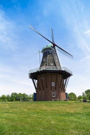dutch: historic Dutch windmill in Holland, Michigan
