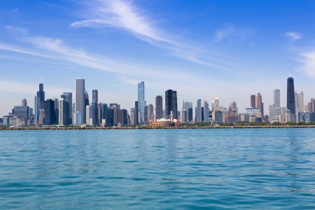 Chicago skyline in summertime 版權商用圖片