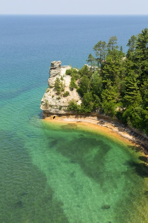 lakeshore: Miners Castle Pictured Rocks National Lakeshore, Michigam Stock Photo