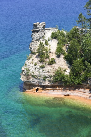 pictured: Miners Castle of Pictured Rocks National Park, Munising, Michigan