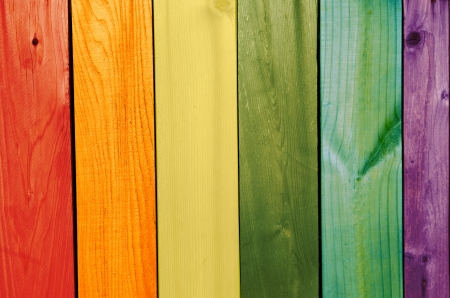 washed painted gay flag wooden texture background Archivio Fotografico