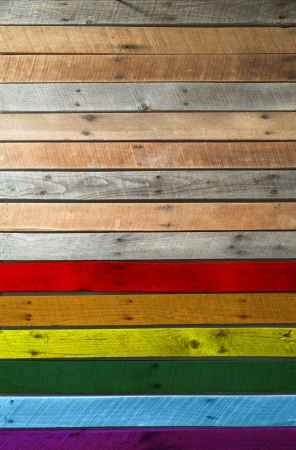 gay flag wooden texture background photo