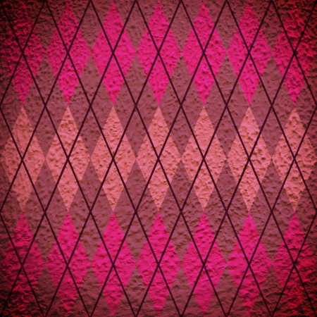 abstract pink and purple argyle diamond pattern  photo