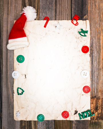 Blank page of old vintage holiday paper