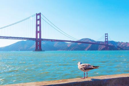 Famous Golden Gate Bridge in San Francisco, California