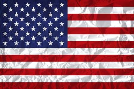 USA flag with vintage look on wrinkled paper background 版權商用圖片