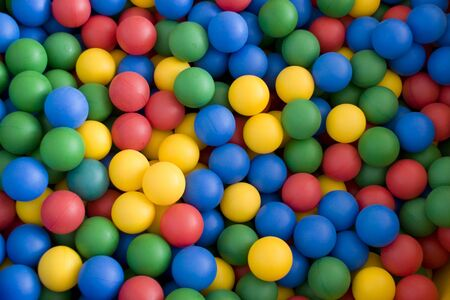 Color balls. bright colors background. photo