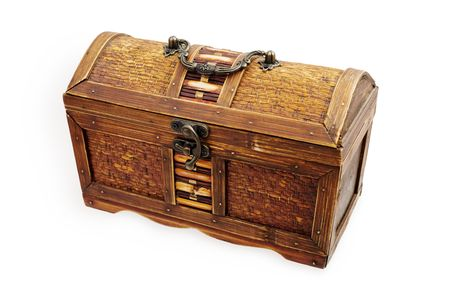 piracy: Piracy chest on a white background