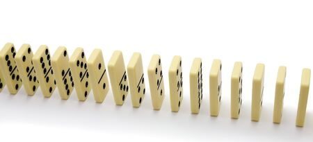 regimented: Bones of a dominoe built in a number