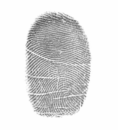 Fingerprint on a surface of a white paper Stock Photo - 3403919