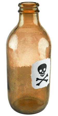 Poison small bottle on a white background Stock Photo - 3654941